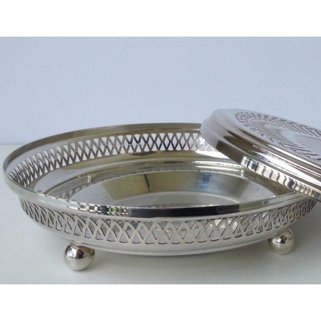 Silver Plate Celtic Platform Server Hot Plate Holder For Sale In West Palm - Image 6 of 8