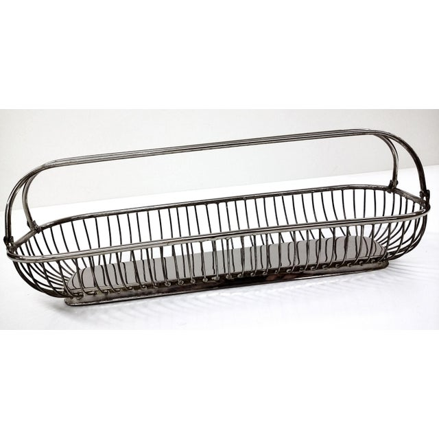 Silver Plate Wire Bread Basket - Image 4 of 8