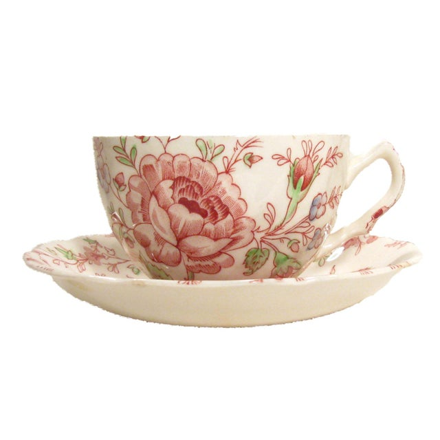 Vintage English Rose Chintz China Service - Set of 75 For Sale - Image 6 of 10