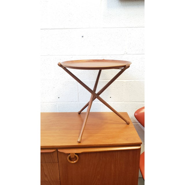 Brown 1950s Swedish Ary Fanerprodukter Nybro Teak Tray Table For Sale - Image 8 of 8