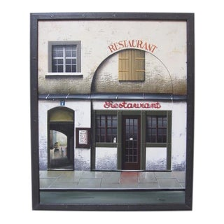 Thomas Pradzynski Montmarte Paris Restaurant Oil Painting For Sale
