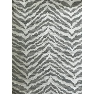 """Transitional """"Kruger"""" Colefax and Fowler Chenille Fabric in Silver - 2.5 Yards For Sale"""