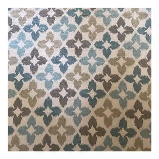 "6 Yards of Thibaut ""Aqua Novia"" Cotton Fabric For Sale"