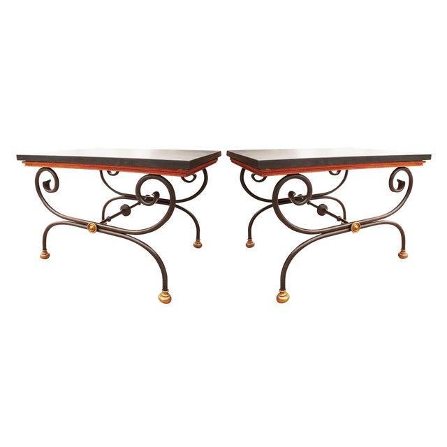 Vintage Morganton Furniture Barcelona Collection Side Tables - Pair For Sale