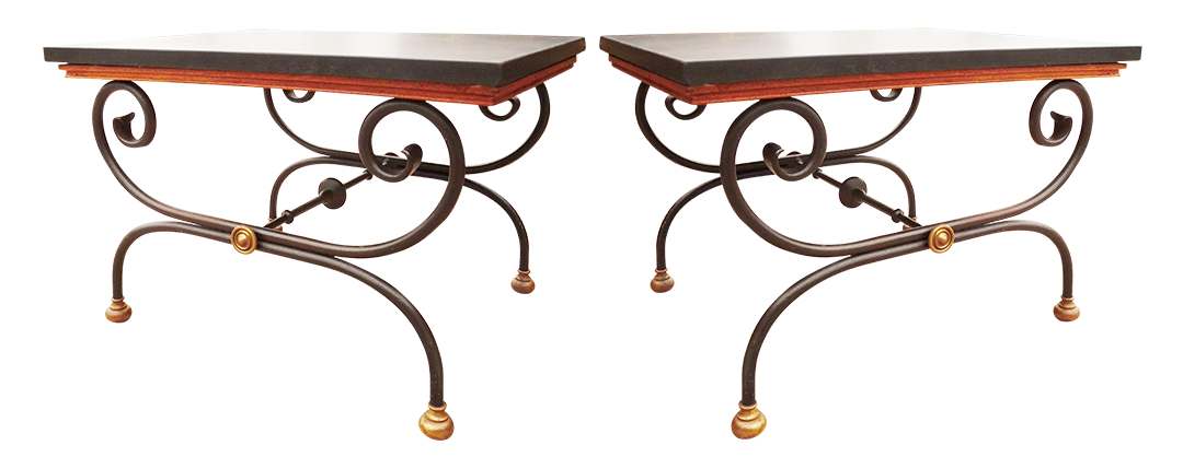 Vintage Morganton Furniture Barcelona Collection Side Tables   Pair