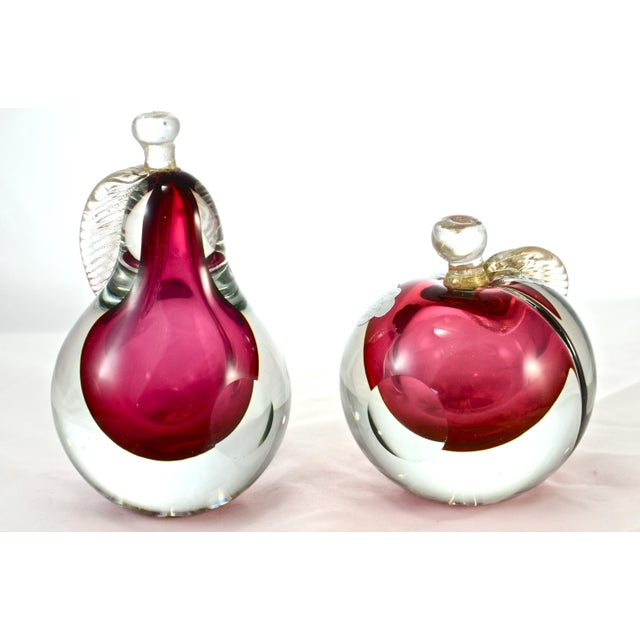 Authentic Barbini Ruby Red Murano Glass Bookends- Set of 2 For Sale - Image 5 of 6