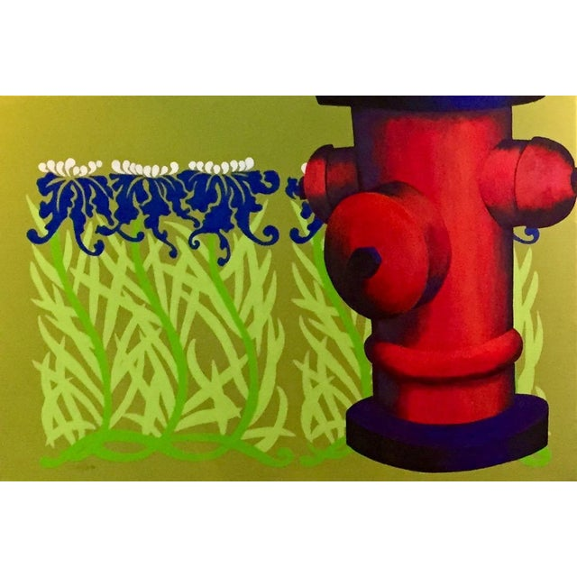 """Original """"Summer Sprinkler"""" Acrylic Painting For Sale - Image 4 of 4"""