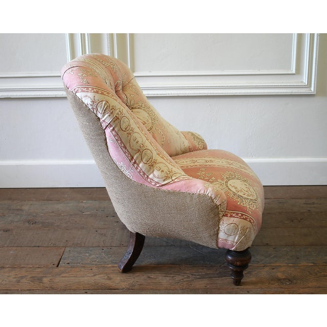 Lights 19th Century Napoleon III Button Tufted Chair For Sale - Image 7 of 12
