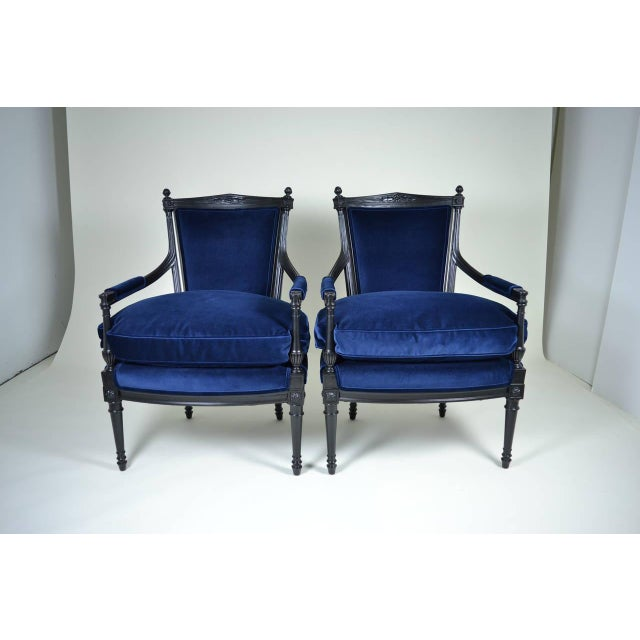 Pair of Directoire Style Fauteuil Chairs For Sale - Image 10 of 10