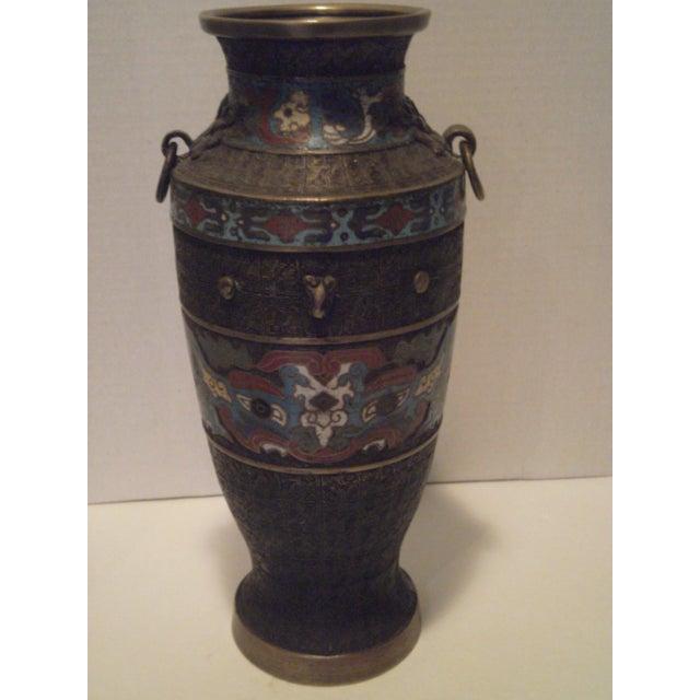 Large Antique Champleve Urn - Image 2 of 11