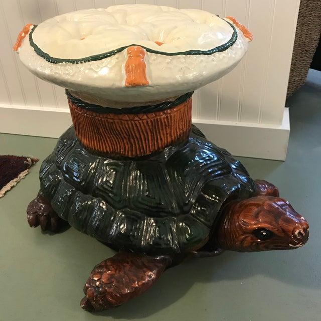 Mid-Century Modern Vintage Turtle Garden Seat Stool For Sale - Image 3 of 10