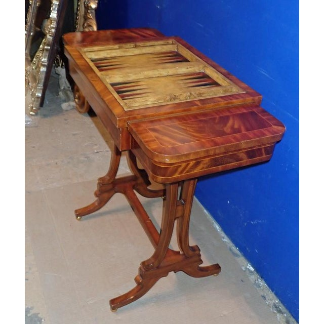 20th Century Federal Maitland Smith Reversible Inlaid Game Table For Sale In New York - Image 6 of 11