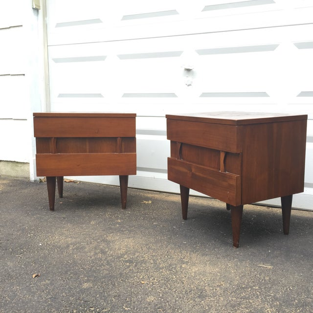 Mid-Century Modern Nightstands - A Pair - Image 2 of 10