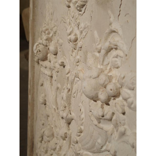 2010s Plaster Bas Relief Cornucopia Panel From France For Sale - Image 5 of 9