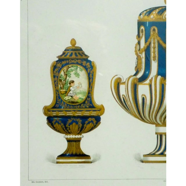 1899 Framed Porcelain Object Prints- A Pair For Sale - Image 4 of 10