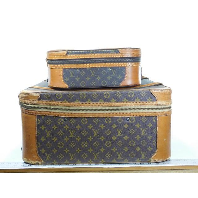 Authentic Vintage Louis Vuitton Suitcases - A Pair - Image 4 of 10