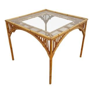 Franco Albini Style Rattan Dining Table