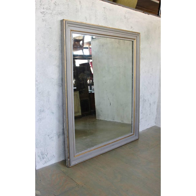 Very Large French 19th C. Mirror in a Carved Wood Frame - Image 5 of 11