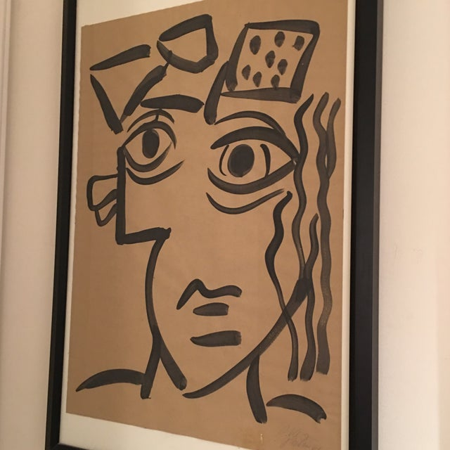 1964 Cubist Abstract Face Painting by Peter Keil For Sale In Atlanta - Image 6 of 8