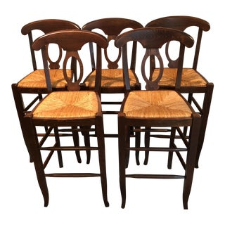 Farmhouse Style Rush Stools- Set of 5