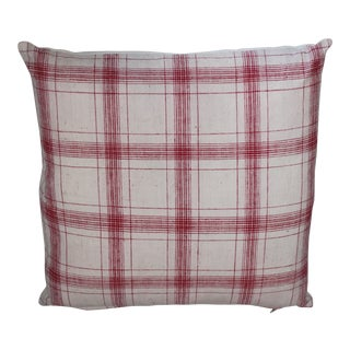 Striped Red&White Pillow For Sale