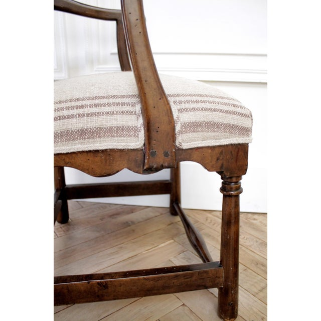 Pair of Fruitwood Carved and Upholstered Arm Chairs For Sale - Image 12 of 13