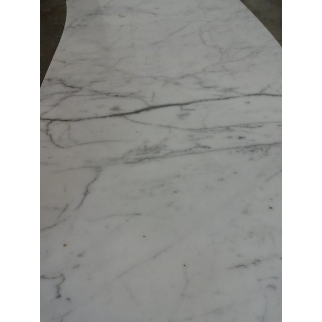 Mid-Century Marble Kidney Coffee Table For Sale - Image 5 of 8