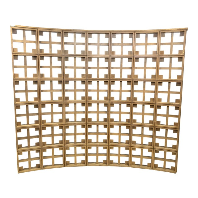 1960s Mid Century Modern Solid Wood Room Divider / Screen For Sale