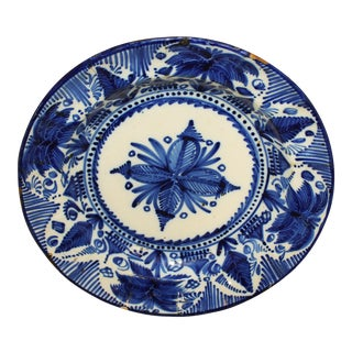 Vintage Delft Blue and White Charger For Sale