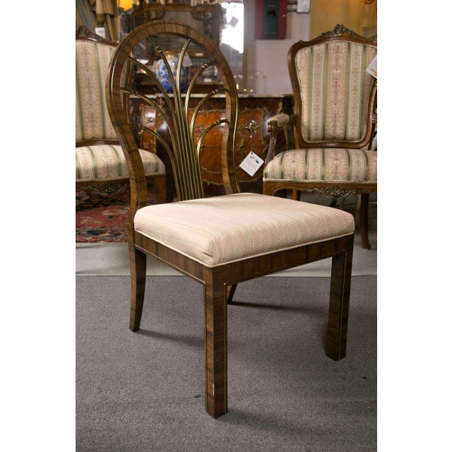 Art Deco Mastercraft Art Deco Dining Chairs - Set of 6 For Sale - Image 3 of 10