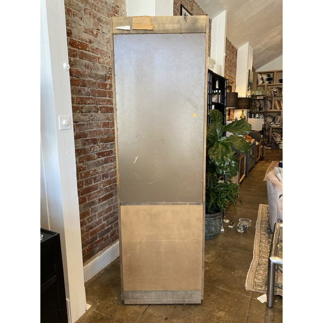 Thomasville Oak and Brass Light Up Display Cabinet For Sale - Image 11 of 12