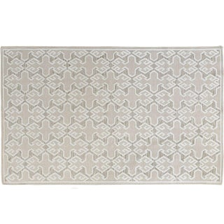 Stark Studio Rugs Contemporary Linen Soumak Rug - 6′ × 9′ For Sale
