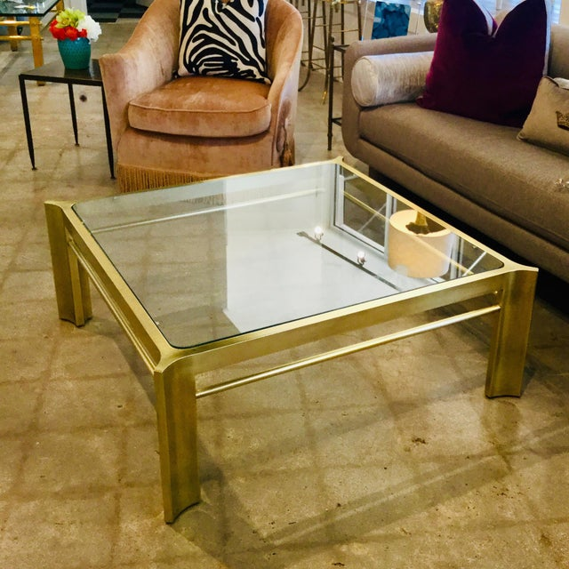Metal Mid-Century Modern Square Mastercraft Coffee Table For Sale - Image 7 of 7