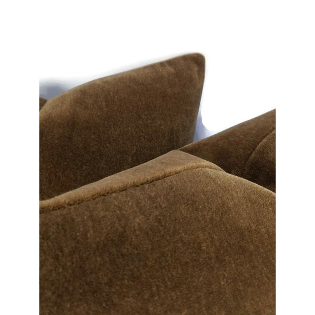 Not Yet Made - Made To Order Mohair Velvet Dark Brown Pillow Cover For Sale - Image 5 of 7