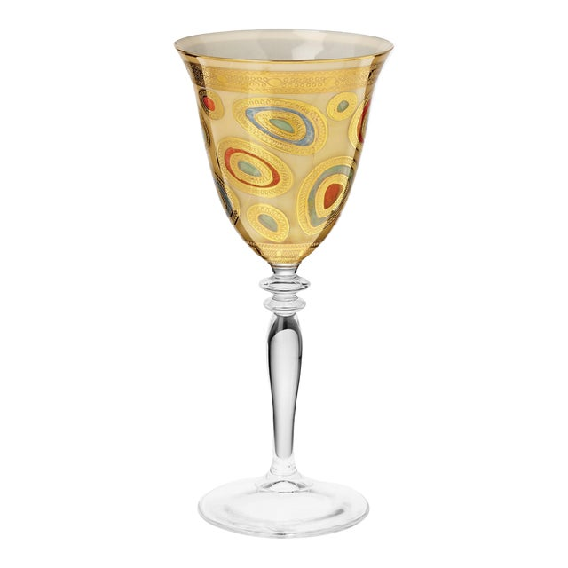 Vietri Regalia Cream Wine Glass from Kenneth Ludwig Home For Sale