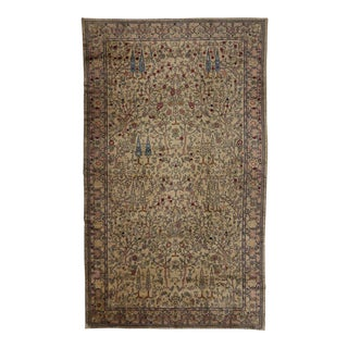 Antique Indian Agra Rug with with Modern Style in Pastel Colors For Sale