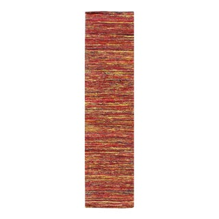 Pasargad Multi Sari-Silk Modern Flat Weave Runner 2'4'' X 10 For Sale