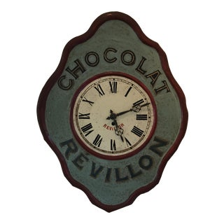 Vintage Early 1900s French Chocolat Revillon Clock