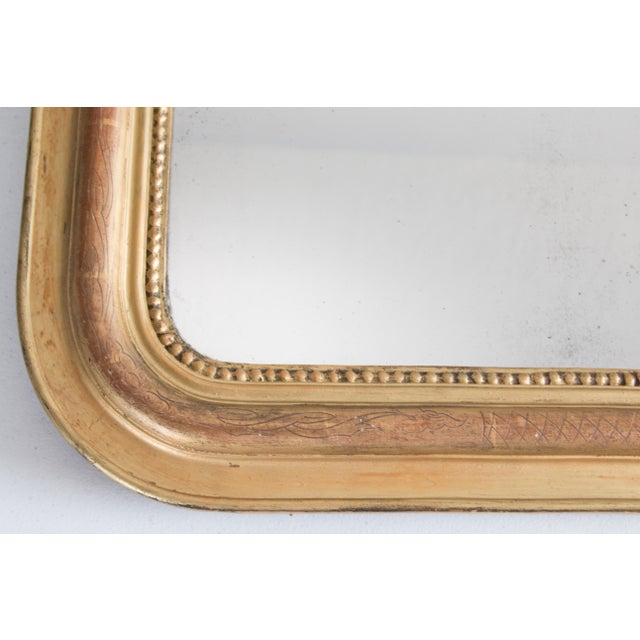 Louis Philippe 19th Century French Louis Philippe Gilt Mirror For Sale - Image 4 of 6