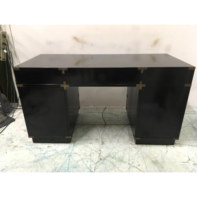 Lacquered Campaign Style Desk - Image 4 of 6