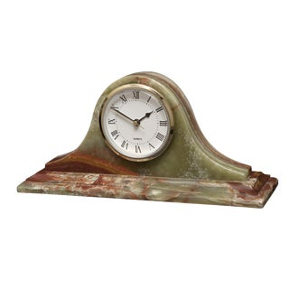 Marbled Green Mantle Clock