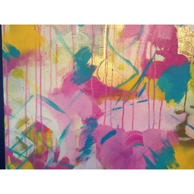 2010s Michelle Chong Abstract Mixed Media on Canvas Pastel Painting For Sale - Image 5 of 9