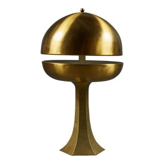 A Sculptural Bronze Table Lamp For Sale