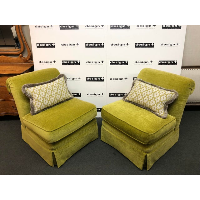 Manuel Canovas Slipper Chairs, a Pair For Sale - Image 11 of 11