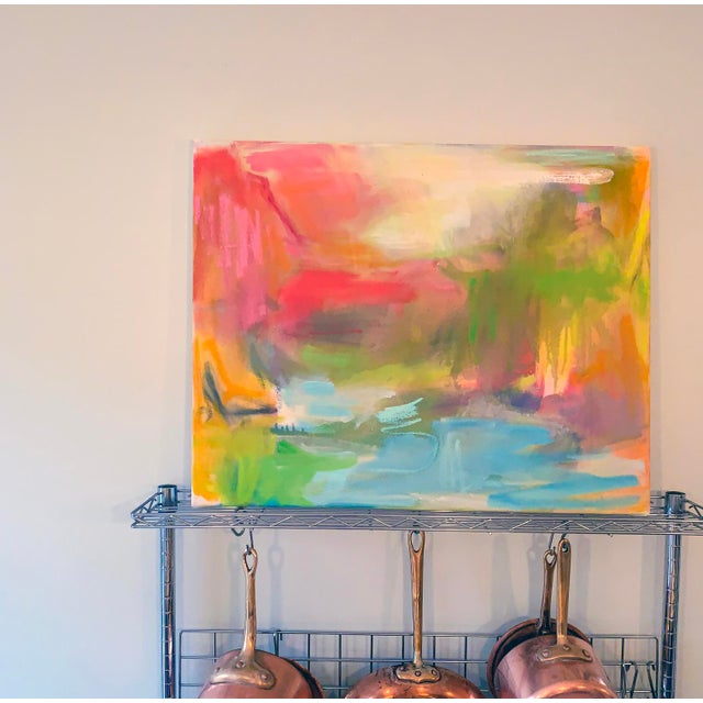 """2010s """"Watering Hole"""" Abstract Oil Painting by Trixie Pitts For Sale - Image 5 of 7"""