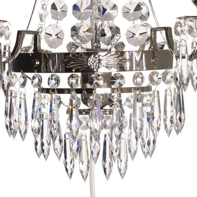 Nobel Nickel Crystal Sconce Chandelier For Sale - Image 4 of 5