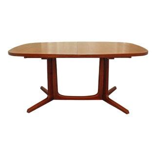 Mid-Century Danish Modern Gudme Mobelfabrik Teak Extension Dining Table
