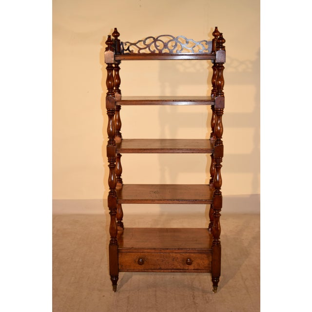 19th C English Mahogany Etagere For Sale - Image 4 of 8