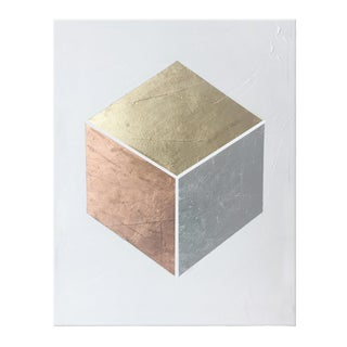"""Abstract Gilded Square Painting - 30x40"""" For Sale"""