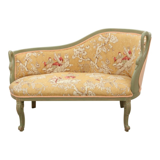French Style Serenade Chaise Lounge For Sale